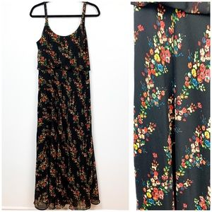Sophie Grey Floral Maxi Dress